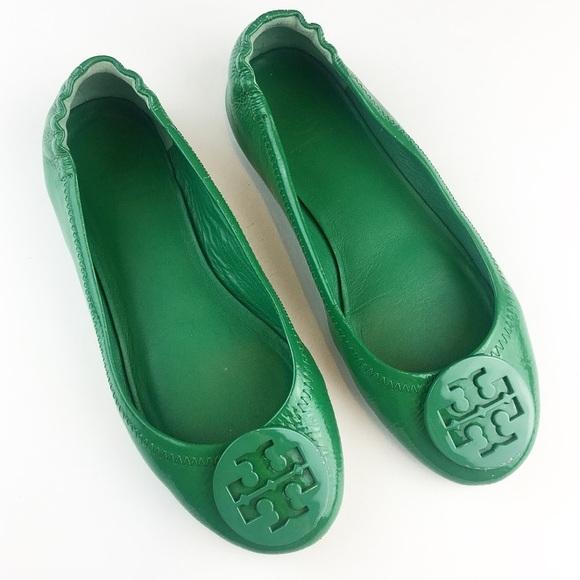 f767166dda1 Tory Burch Patent Leather Green Flats Women s 6. M 5a792a54daa8f6b947b8b018